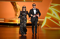 LOS ANGELES - SEPTEMBER 22: Maya Rudolph and Ike Barinholtz onstage at the 71st Primetime Emmy Awards at the Microsoft Theatre on September 22, 2019 in Los Angeles, California. (Photo by Frank Micelotta/Fox/PictureGroup)