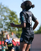 220190921 – LEUVEN, BELGIUM : E. Aalst's Henriette Awete is pictured celebrating her goal during a women soccer game between Oud Heverlee Leuven Ladies B and Eendracht Aalst Ladies on the fourth matchday of the Belgian Division 1 season 2019-2020, the Belgian women's football national division 1, Saturday 21th September 2019 at the Bruinveld Youth Complex, Domeinstraat in Leuven , Belgium. PHOTO SPORTPIX.BE | SEVIL OKTEM