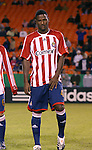 27 October 2007: Chivas USA's Shavar Thomas (JAM). The Kansas City Wizards defeated Club Deportivo Chivas USA 1-0 in the first leg of their Major League Soccer Western Conference Semifinal playoff series at Arrowhead Stadium in Kansas City, Missouri.