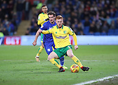 1st December 2017, Cardiff City Stadium, Cardiff, Wales; EFL Championship Football, Cardiff City versus Norwich City; Harrison Reed of Norwich City controls the ball on the wing