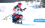 Pyeongchang, Korea, 11/3/2018-Sebastien Fortier competes in the 15k sitting cross country during the 2018 Paralympic Games in PyeongChang. Photo Scott Grant/Canadian Paralympic Committee.