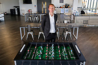 Pictured: Graham Potter in the training ground restaurant. Monday 11 June 2018<br /> Re: Graham Potter is announced as the new manager for Swansea City AFC at the Fairwood Training Ground, south Wales, UK.