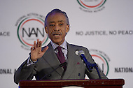Washington, DC - January 19, 2015: The Reverend Al Sharpton speaks at the annual King Day Breakfast hosted by the National Action Network at the Mayflower Hotel in Washington, DC, January 19, 2015.  (Photo by Don Baxter/Media Images International)