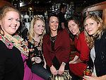 Catherine Norris, Melissa flanagan, Pauline Burke,  Martha Wallace and Kat Allen enjoying the new year celebrations at McPhail's. Photo: Colin Bell/pressphotos.ie
