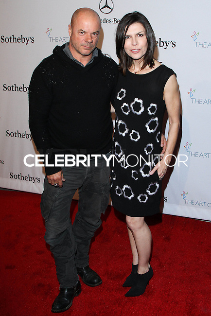 "HOLLYWOOD, LOS ANGELES, CA, USA - FEBRUARY 26: Russell Young, Finola Hughes at The Art Of Elysium's 7th Annual ""Pieces Of Heaven"" Charity Art Auction held at Siren Studios on February 26, 2014 in Hollywood, Los Angeles, California, United States. (Photo by David Acosta/Celebrity Monitor)"