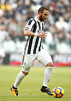 Calcio, Serie A: Juventus - Sassuolo, Torino, Allianz Stadium, 4 Febbraio 2018. <br /> Juventus' Gonzalo Higuain in action during the Italian Serie A football match between Juventus and Sassuolo at Torino's Allianz stadium, February 4, 2018.<br /> UPDATE IMAGES PRESS/Isabella Bonotto