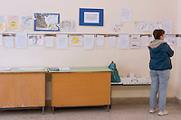 Roma 17 Ottobre 2015<br /> La mostra internazionale dei disegni dei bambini &quot;Il mondo con gli occhi degli innocenti&quot;, organizzata, dall'associazione culturale Speranza, presso il centro didattico &quot;Nikolaj Gogol'&quot; a Roma, disegni dei bambini di Lugansk e Alchevsk nella regione del Donbass che hanno vissuto per oltre un anno sotto i bombardamenti durante la guerra civile in Ucraina.<br /> Rome 17 October 2015<br /> The international exhibition of children's drawings &quot;The world through the eyes of the innocent&quot;, organized by cultural association Hope, at the educational center &quot;Nikolai Gogol' 'in Rome, children's drawings of Lugansk and Alchevsk in the Donbass region that they lived for over a year under bombardment during the civil war in Ukraine.