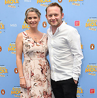 Caroline Sheen and Michael Jibson attend The Secret Diary Of Adrian Mole Aged 13 ¾ musical adaptation of Sue Townsend's comic fiction which opens in Adrian's 50th birthday year and follows the daily dramas and misadventures of the teenager's adolescent life, at Ambassadors Theatre, London, England on July 02, 2019.<br /> CAP/JOR<br /> ©JOR/Capital Pictures