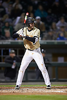 Johnny Aiello (2) of the Wake Forest Demon Deacons at bat against the Charlotte 49ers at BB&T BallPark on March 13, 2018 in Charlotte, North Carolina.  The 49ers defeated the Demon Deacons 13-1.  (Brian Westerholt/Four Seam Images)
