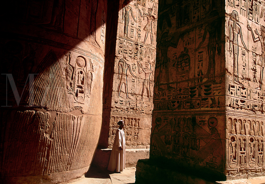 Hieroglyphics at Medinat Habu Mortuary Temple of Ramses III Luxor West Bank Egypt