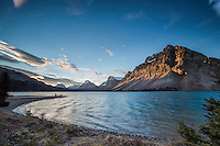 Photographers, Bow Lake Morning, Banff National Park.