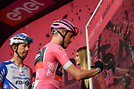 Race leader Maglia Rosa Rohan Dennis (AUS) BMC Racing Team at sign on before the start of Stage 3 of the 101st edition of the Giro d'Italia 2018 running 229km flat stage from Be'er Sheva to Eilat is the last in Israel. 6th May 2018.<br /> Picture: LaPresse/Gian Mattia D'Alberto | Cyclefile<br /> <br /> <br /> All photos usage must carry mandatory copyright credit (&copy; Cyclefile | LaPresse/Gian Mattia D'Alberto)