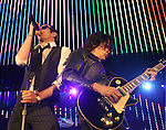 IRVINE, CA. - June 05: Musician Scott Weiland and Dean DeLeo of Stone Temple Pilots perform at the 2010 Los Angeles KROQ Weenie Roast at Verizon Wireless Amphitheater on June 5, 2010 in Irvine, California.