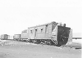 3/4 front view of Rotary OM at Chama.<br /> D&amp;RGW  Chama, NM  Taken by Maxwell, John W. - 5/1938
