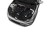 Car stock 2017 Volkswagen Golf Alltrack Base 5 Door Wagon engine high angle detail view