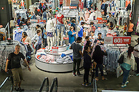 Shopping at the Gap Old Navy brand store in Herald Square in New York on Friday, June 26, 2015. (© Richard B. Levine)