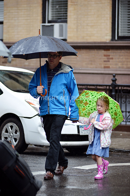 ACEPIXS.COM<br /> <br /> June 13 2014, New York City<br /> <br /> Actor Matthew Brodericktakes his daughter Marion to school in the West Village on June 13 2014 in New York City<br /> <br /> <br /> By Line: Curtis Means/ACE Pictures<br /> <br /> ACE Pictures, Inc.<br /> www.acepixs.com<br /> Email: info@acepixs.com<br /> Tel: 646 769 0430