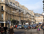 Christmas shoppers, Milsom Street, Bath, England