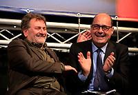 Europee 2019 Manifestazione elettorale del Pd con  il segretario Nicola Zingaretti <br /> il Commisariom Provinciale Michele Meta