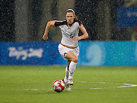 Lindsay Tarpley. The USWNT defeated Canada in extra time, 2-1, during the 2008 Beijing Olympics in Shanghai, China.