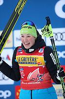 31st December 2019; Dobbiaco, Toblach, South Tyrol, Italy;  FIS Tour de Ski - Cross Country Ski World Cup 2019  in Dobbiaco, Toblach, on December 31, 2019; Womens individual 10km Anamarija Lampic of Slovenia celebrates on the podium