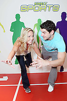 "NO REPRO FEE. Bernard Brogan, GAA All Star and 2010 Footballer of the Year and Linda O Neill , popped into the Kinect  Experiential Centre on Grafton Street to get a sneak preview of Kinect ahead of launch on November 10thand take on the public in a series of sprints as part of a ""Kinect Sports"" challenge.Kinect for Xbox 360 makes it possible to play in a whole new way by identifying your movement and body position to create a truly immersive entertainment experience. See a ball? Just kick it. Browse through a menu with the wave of a hand Picture James Horan/Collins Photos"