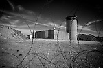 Unoccupied IDF watchtower at Oush Grab, Beit Sahour, near Bethlehem on 15/05/2010..The watchtower is located on the perimeter of an abandoned IDF base on the outskirts of Beit Sahour & was built to protect a group Israeli settlers that visit the site on Shabbat.