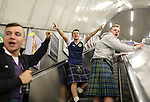 Scotland fans on the tube system before the FIFA World Cup Qualifying Group F match at Wembley Stadium, London. Picture date: November 11th, 2016. Pic David Klein/Sportimage