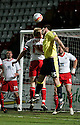 Lubomir Michalik of Carlisle heads for goal. - Stevenage v Carlisle United - npower League 1 - Lamex Stadium, Stevenage - 17th April, 2012. © Kevin Coleman 2012