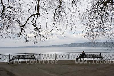Genève, le 03.03.2009.Parc Barton.© Le Courrier / J.-P. Di Silvestro