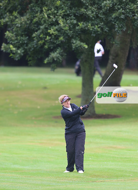 Debbie Sweeney (Mahee Island) during the Ulster Mixed Foursomes Final, Shandon Park Golf Club, Belfast. 19/08/2016<br /> <br /> Picture Jenny Matthews / Golffile.ie<br /> <br /> All photo usage must carry mandatory copyright credit (© Golffile | Jenny Matthews)