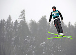 16 January 2009: Yury Shapkin from Russia performs aerial acrobatics during the FIS Freestyle World Cup warm-ups at the Olympic Ski Jumping Facility in Lake Placid, NY, USA. Mandatory Photo Credit: Ed Wolfstein Photo. Contact: Ed Wolfstein, Burlington, Vermont, USA. Telephone 802-864-8334. e-mail: ed@wolfstein.net