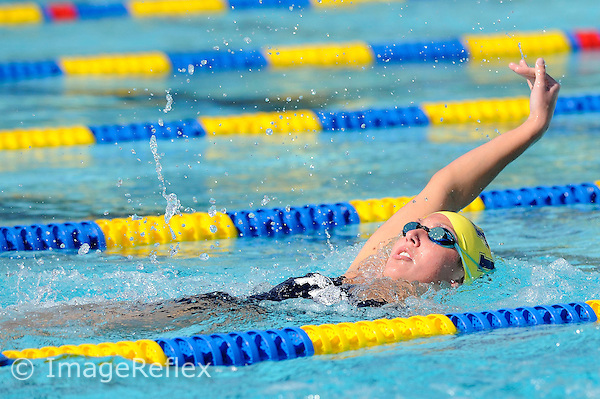 24 January 2009:  FIU's Erin Pavlick competes in the 400 yard individual medley during FIU's meet against Florida Gulf Coast University at the Biscayne Bay Campus Aquatics Complex in North Miami, Florida.