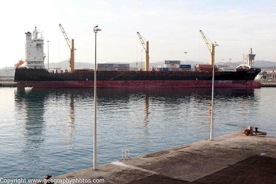 Ship at Port of Algeciras, Spain