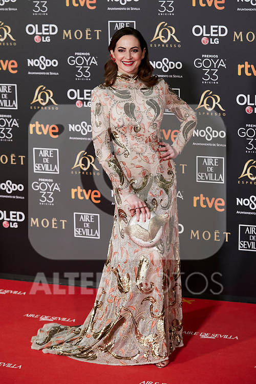 Cuca Escribano1 attends to 33rd Goya Awards at Fibes - Conference and Exhibition  in Seville, Spain. February 02, 2019. (ALTERPHOTOS/A. Perez Meca)