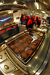 30 March 2008: Hamburgers sizzle at Nationals Park on Opening Day and the inaugural game between the Atlanta Braves and the Washington Nationals in Washington, DC. The Nationals christened their new ballpark with a 3-2 win over the visiting Braves...Mandatory Photo Credit: Ed Wolfstein Photo..Mandatory Photo Credit: Ed Wolfstein Photo