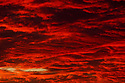 Red clouds at sunset at North Point in Gracetown in Western Australia.