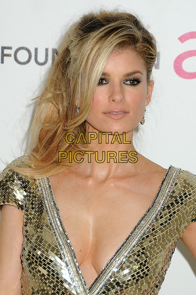Marisa Miller.20th Annual Elton John Academy Awards Viewing Party held at West Hollywood Park, West Hollywood, California, USA..February 26th, 2012.oscars headshot portrait gold sequins sequined low cut neckline cleavage .CAP/ADM/BP.©Byron Purvis/AdMedia/Capital Pictures.