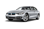 Stock pictures of low aggressive front three quarter view of 2017 BMW 3-Series-Plug-In-Hybrid Sport 4 Door Sedan Low Aggressive