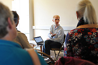 Machynlleth, Wales. 29th July, 2017. <br /> Ben Studd of the Friends of Ecuador group, leading the Ecuador for beginners workshop.<br /> Photographer; Kevin Hayes