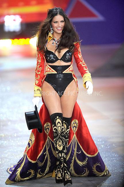WWW.ACEPIXS.COM . . . . . .November 7, 2012...New York City.... Adriana Lima walks the runway during the 2012 Victoria's Secret Fashion Show at the Lexington Avenue Armory on November 7, 2012 in New York City ....Please byline: KRISTIN CALLAHAN - ACEPIXS.COM.. . . . . . ..Ace Pictures, Inc: ..tel: (212) 243 8787 or (646) 769 0430..e-mail: info@acepixs.com..web: http://www.acepixs.com .