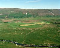 Litla-Tunga, Stóra-Tunga og Galtartunga séð til norðurs, Dalabyggð áður Felsstrandarhreppur / Litla-Tunga, Stora-Tunga and Galtartunga viewing north, Dalabyggd former Fellsstrandarhreppur.