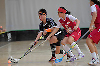 Thailand&rsquo;s Thanaporn Tongkham in action during the World Floorball Championships 2017 Qualification for Asia Oceania Region - Singapore v Thailand at ASB Sports Centre , Wellington, New Zealand on Sunday 5 February 2017.<br /> Photo by Masanori Udagawa<br /> www.photowellington.photoshelter.com.