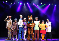 Scooby Doo Live! Musical Mysteries photocall at the London Palladium ahead of the West End opening on August 17th 2016 Featuring: Charlie Bull (Daphne), Chris Warner Drake (Fred), Rebecca Withers (Velma), Charlie Haskins (Shaggy), Joe Goldy (Scooby-Doo), Kate England, John McManus, Martin Neely<br /> CAP/ROS<br /> &copy;Steve Ross/Capital Pictures /MediaPunch ***NORTH AMERICAS ONLY***