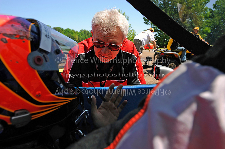 3-4 May 2008, Pickwick,TN USA.Team owner Ted Gryguc talks with driver Shaun Torrente..©2008 F.Peirce Williams