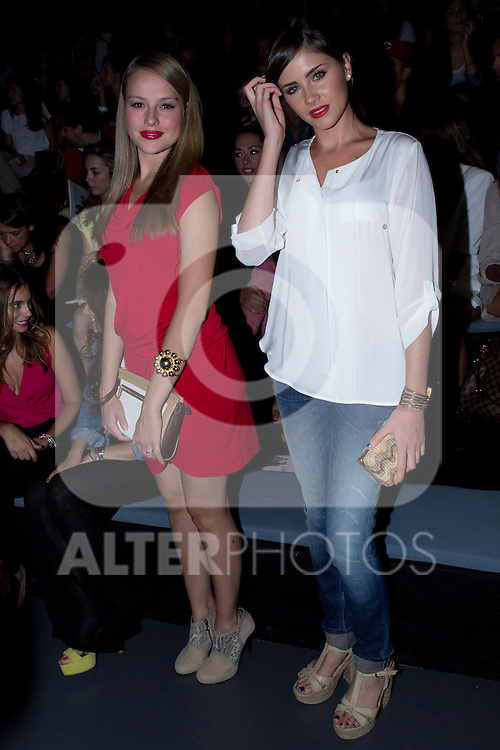 03.09.2012. Celebrities attending the Dolores Cortes and Guillermina Baeza fashion show during the Mercedes-Benz Fashion Week Madrid Spring/Summer 2013 at Ifema. In the image Esmeralda Moya and Lucia Ramos (Alterphotos/Marta Gonzalez)