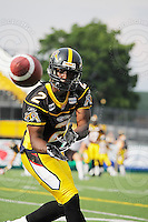 June 26, 2008; Hamilton, ON, CAN; Hamilton Tiger-Cats wide receiver Tony Miles (2). CFL football - Montreal Alouettes defeated the Hamilton Tiger-Cats 33-10 at Ivor Wynne Stadium. Mandatory Credit: Ron Scheffler-www.ronscheffler.com. Copyright (c) Ron Scheffler
