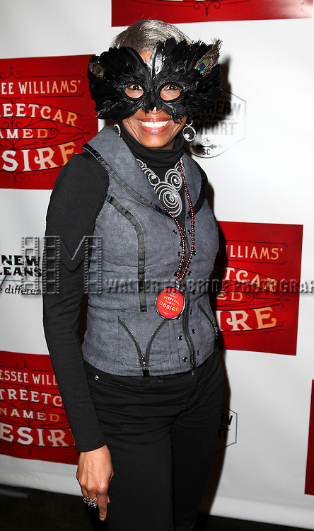 Adriane Lenox.attending the Broadway Opening Night After Party for 'A Streetcar Named Desire' on 4/22/2012 at the Copacabana in New York City.