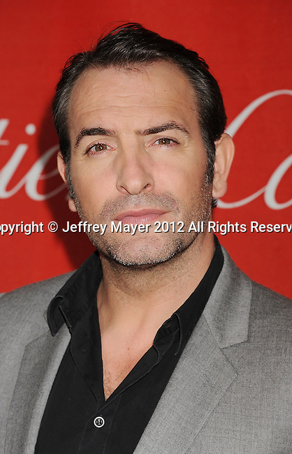PALM SPRINGS, CA - JANUARY 07: Jean Dujardin arrives at the 2012 Palm Springs Film Festival Awards Gala at the Palm Springs Convention Center on January 7, 2012 in Palm Springs, California.