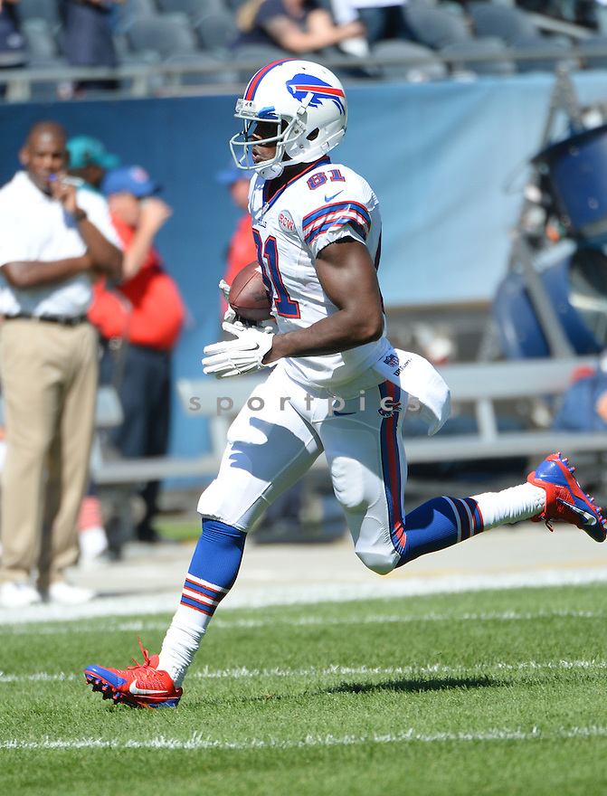 Buffalo Bills Marcus Easley (81) during a game against the Chicago Bears on September 7, 2014 at Soldier Field in Chicago, IL. The Bills beat the Bears 23-20.